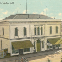 Masonic & Odd Fellows Hall, Visalia, Calif., 1873