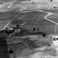 Aerial view of Tulare circa 1940