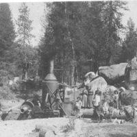 Stationary donkey engine
