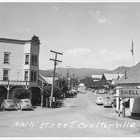 Main Street, Coulterville, 1940s