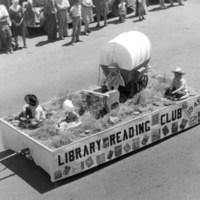 Coalinga Library float in Horned Toad Derby Parade