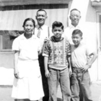 Mexican-American Family at Mary Joe's Cafe