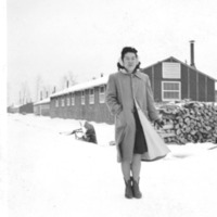 Naomi Tagawa at Jerome Relocation Center in Denson, Arkansas