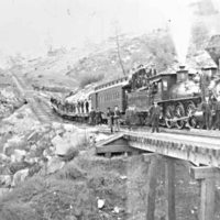 Train at Knowles Quarry