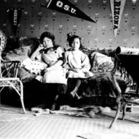 Sisters in Internment Camp, World War II