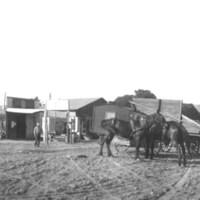 Sorghum wagon and cook wagon